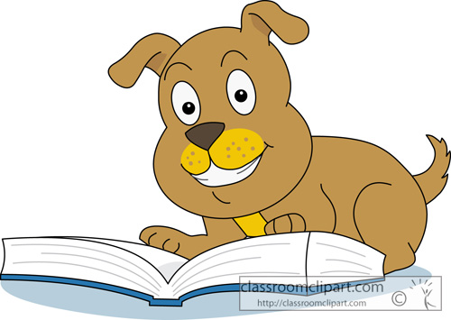 free clip art animals reading books - photo #49