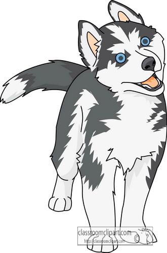 free clipart husky dog - photo #5