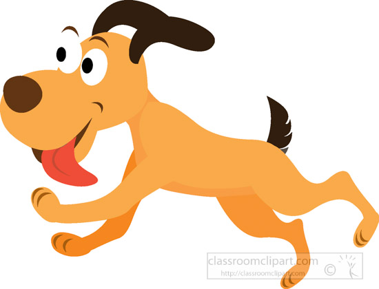dog clipart clipart funny dog running jumping with tongue out rh classroomclipart com dog training clip art Running Clip Art