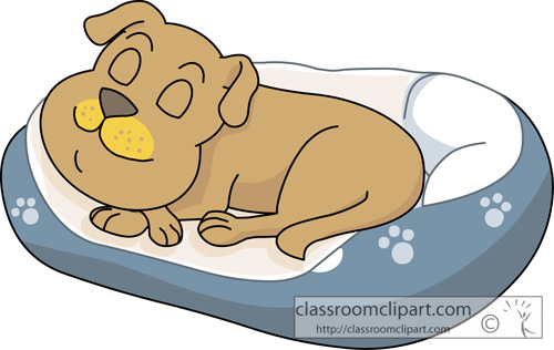 clipart dog in bed - photo #2