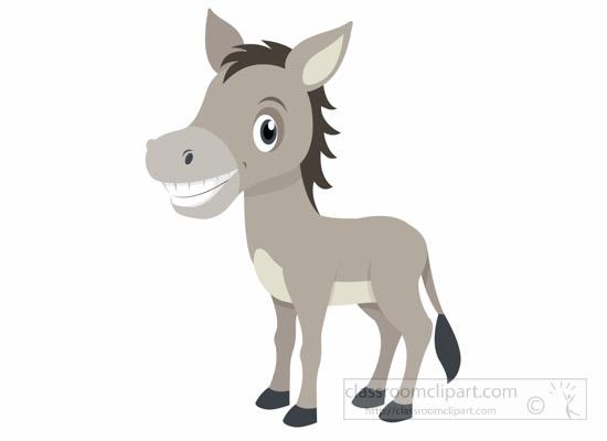 cute-smiling-gray-donke-clipart-6926.jpg