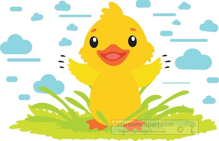cute-little-chicken-on-grass-with-blue-clouds-clipart.jpg