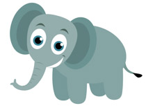 free elephant clipart clip art pictures graphics illustrations rh classroomclipart com Cute Elephant Clip Art elephant clipart pictures