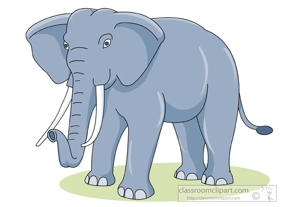 Elephant Clipart Clipart - african-elephant-with-white ...