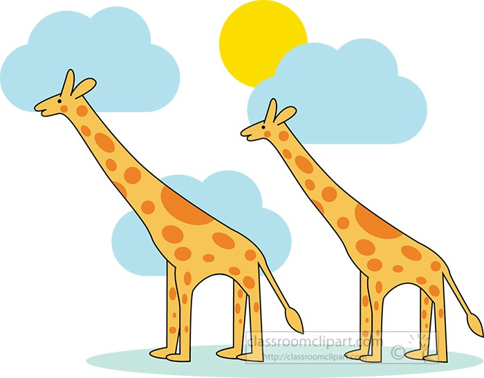 two-giraffes-with-blue-clouds-sun-in-background-vector-clipart.jpg