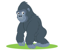 Free Gorilla Clipart - Clip Art Pictures - Graphics - Illustrations