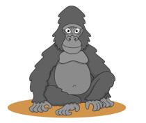free gorilla clipart clip art pictures graphics illustrations rh classroomclipart com gorilla clipart black and white free gorilla clipart images