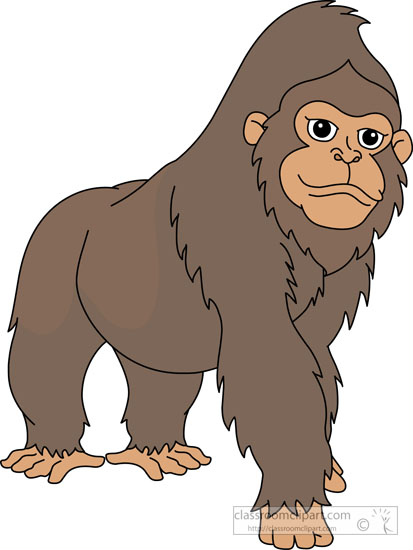 gorilla clipart clipart large western gorilla clipart 78e2 rh classroomclipart com gorilla clipart logo gorilla clipart gif