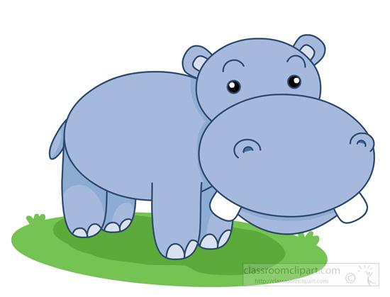 free clip art hippo cartoon - photo #24