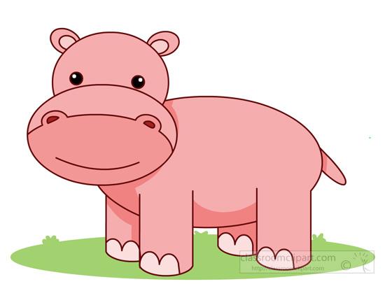 free clip art hippo cartoon - photo #45