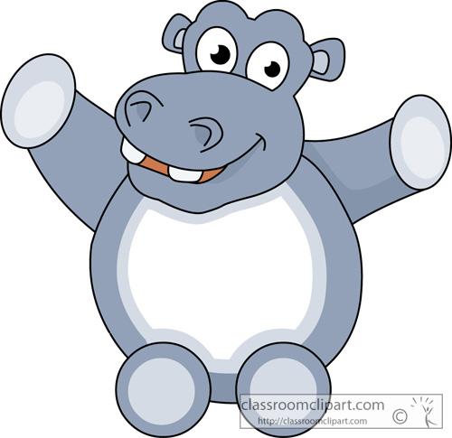 Hippo Clipart : cute_hippopotamus_animal_11 : Classroom ...