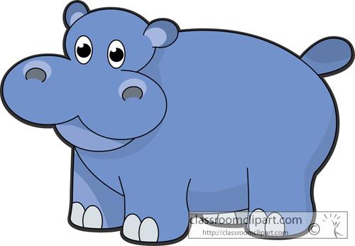 free clip art hippo cartoon - photo #27