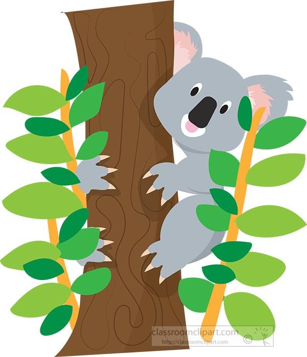cartoon-style-koala-bear-on-tree-surrounded-by-leaves.jpg