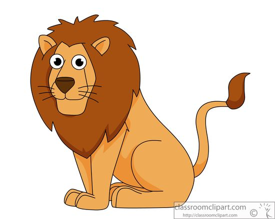 Lion Clipart : lion-sitting-cartoon-clipart-914 : Classroom Clipart