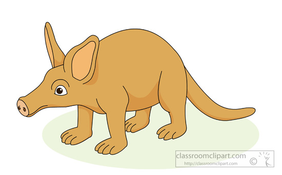 clipart-of-the-african-nocturbal-animal-the-aardvark.jpg