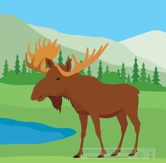 moose-in-near-lake-in-natural-environment-clipart.jpg