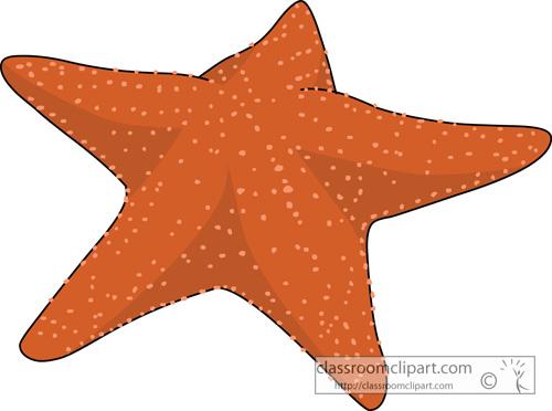 Marine Life Clipart : starfish_728 : Classroom Clipart