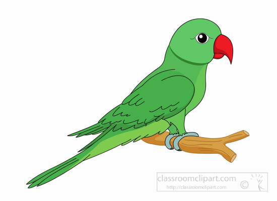 Parrot Clipart Clipart- parrot-green-with-red-beak-clipart ...