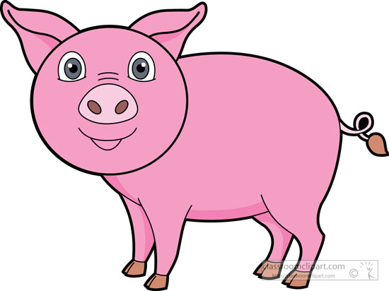 free clip art pink pig - photo #43