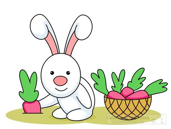 Rabbit Clipart : cute-little-rabbit-pulling-out-carrot ...