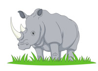 free rhino clipart clip art pictures graphics illustrations rh classroomclipart com rhinocéros clipart free clipart rhinoceros