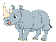 free rhino clipart clip art pictures graphics illustrations rh classroomclipart com free clipart rhinoceros rhinocéros clipart