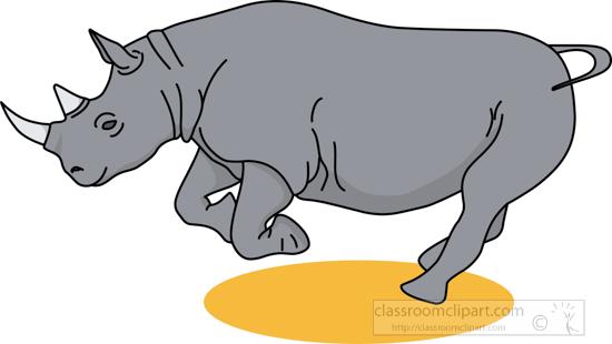 Rhino Clipart : rhinoceros_02_22912 : Classroom Clipart