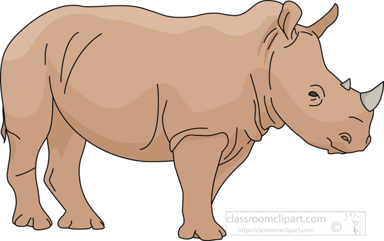 Rhino Clipart : rhinoceros_03A : Classroom Clipart