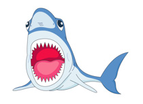 fish mouth template - free shark clipart clip art pictures graphics