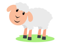 Cute Sheep Clipart Size: 47 Kb