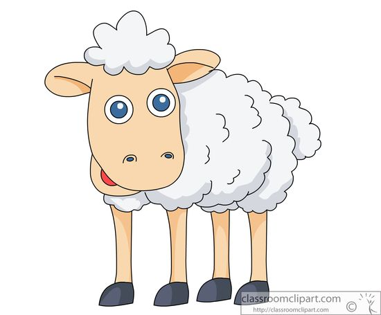 Sheep Cartoon Clipart. Size: 44 Kb