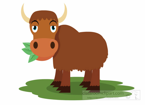 yak-eating-green-leaves-clipart-1012.jpg