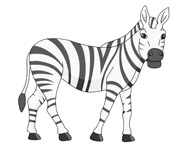 free zebra clipart clip art pictures graphics illustrations rh classroomclipart com free printable zebra clipart free zebra pattern clipart