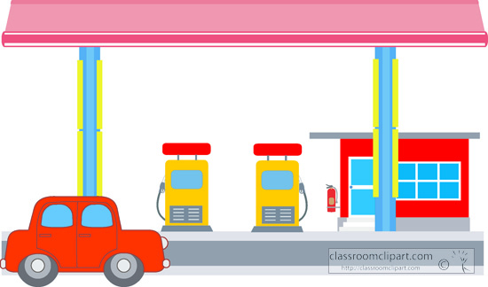 Architecture Clipart- gas-station-clipart-127 - Classroom