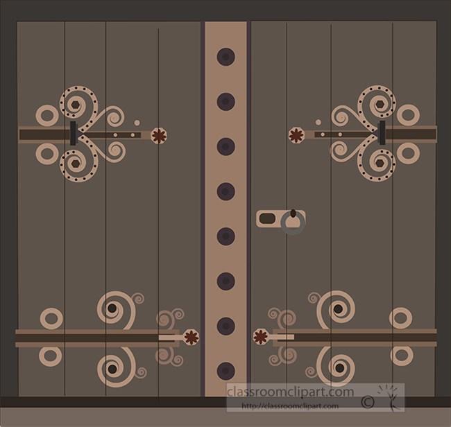 old wooden ornate door clipart.jpg