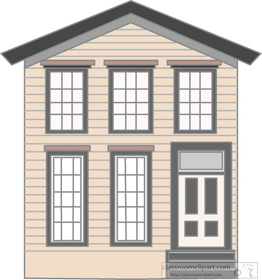 Architecture Clipart - old-wood-frame-two-story-house ...