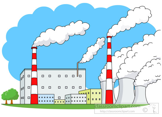 Architecture Clipart- power-plant-buildings-white-smoke ...