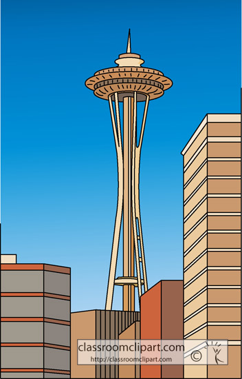 clipart of space needle - photo #27