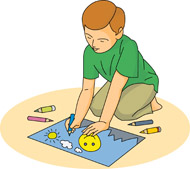 Boy Coloring And Drawing Size 92 Kb