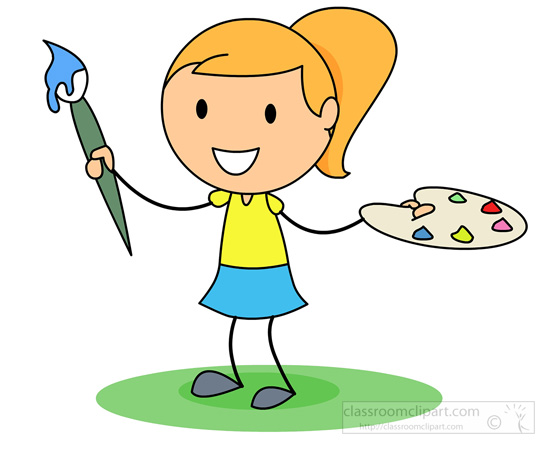 Girl Painting Clip Art – Cliparts