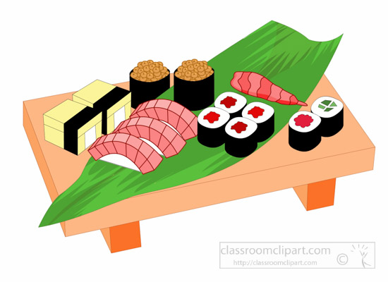 Asia : Sushi-Traditional-Japanese-Food-Japan-Asia-Clipart ...