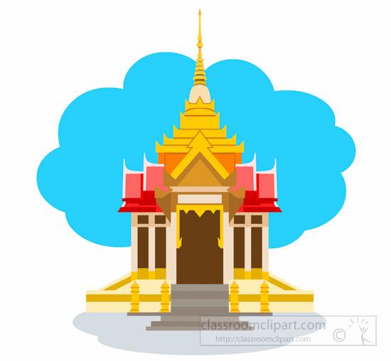 Asia : Thai-Buddhist-Temple-In-Kanchanaburi-Thailand-Asia-Clipart ...