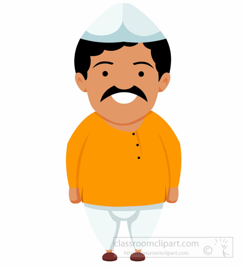 asia clipart indian man wearing dhoti kurta treditional costume rh classroomclipart com india clipart free indian clipart