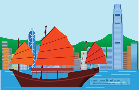 junk-boat-in-hong-kong-harbor-with-city-in-background-clipart.jpg