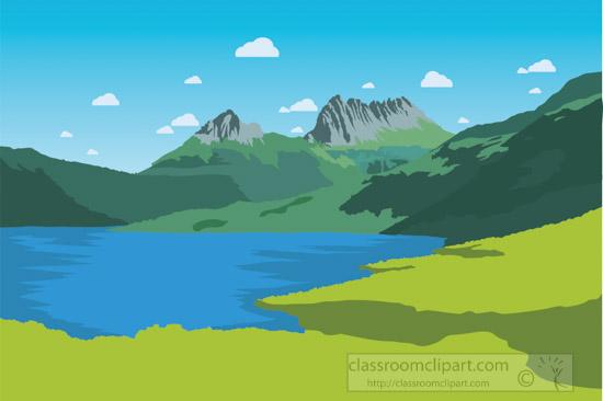 cradle-mountain-lake-st-clair-national-park-tasmania-australia-clipart-2.jpg