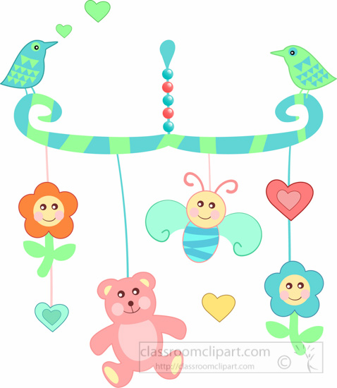 baby clipart babycolorfulhangingmobileclipart