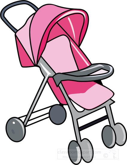 clipart-of-a-pink-baby-stroller-with-cover.jpg