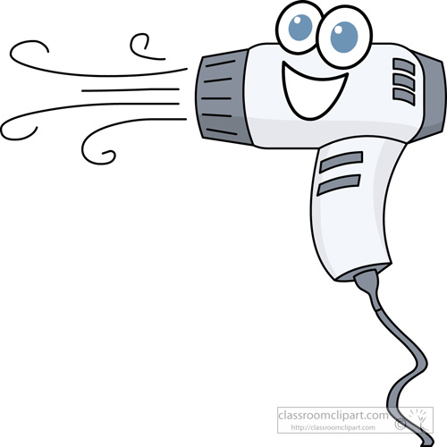 Animated Hair Dryer ~ Beauty cosmetics clipart hair dryer cartoon characters