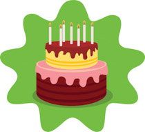 Decorated Birthday Cake Clipart Size 95 Kb From