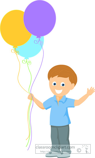 Boy Holding Balloons Clipart Search results - search results for ...